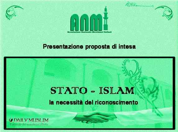 Una proposta d'intesa per il riconoscimento di un Islam italiano da parte dello Stato