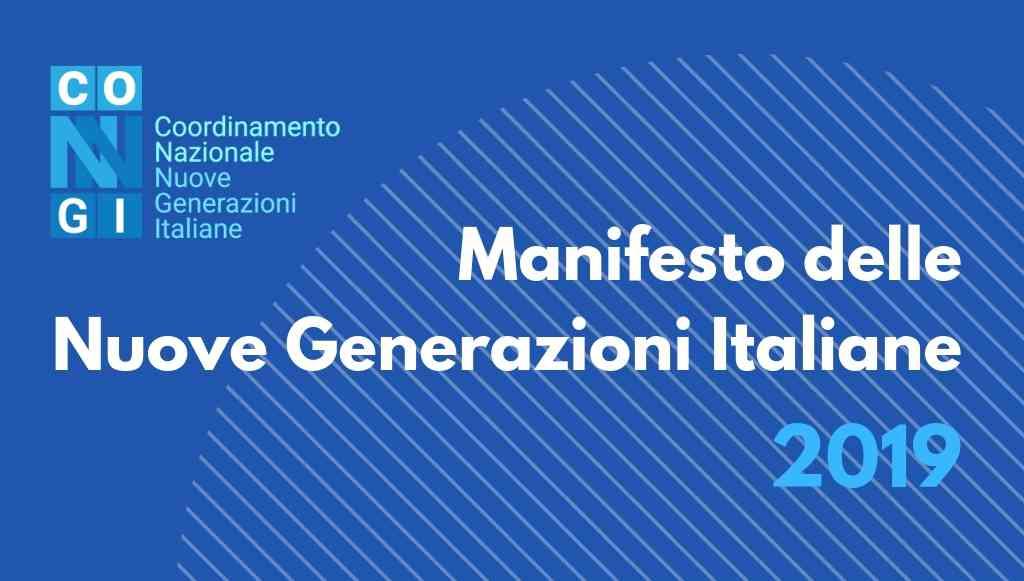 Il CoNNGI presenta il Manifesto delle Nuove Generazioni Italiane 2019