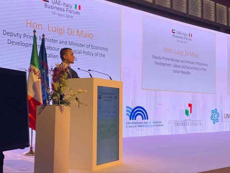 Iniziata la missione commerciale di Di Maio negli Emirati Arabi
